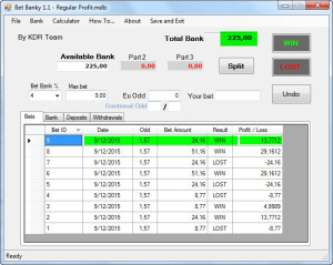 Betting Bank Tool